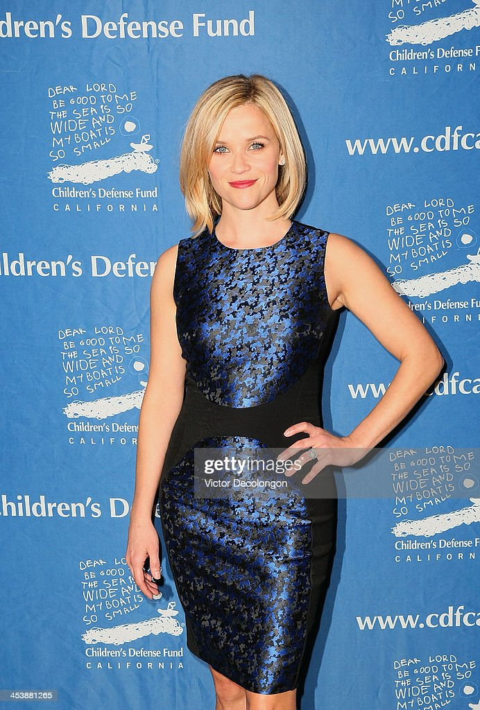 Actress <a gi-track='captionPersonalityLinkClicked' href=/galleries/search?phrase=Reese+Witherspoon&family=editorial&specificpeople=201577 ng-click='$event.stopPropagation()'>Reese Witherspoon</a> attends Children's Defense Fund - California Hosts 23rd Annual Beat The Odds Awards at the Beverly Hills Hotel on December 5, 2013 in Beverly Hills, California.