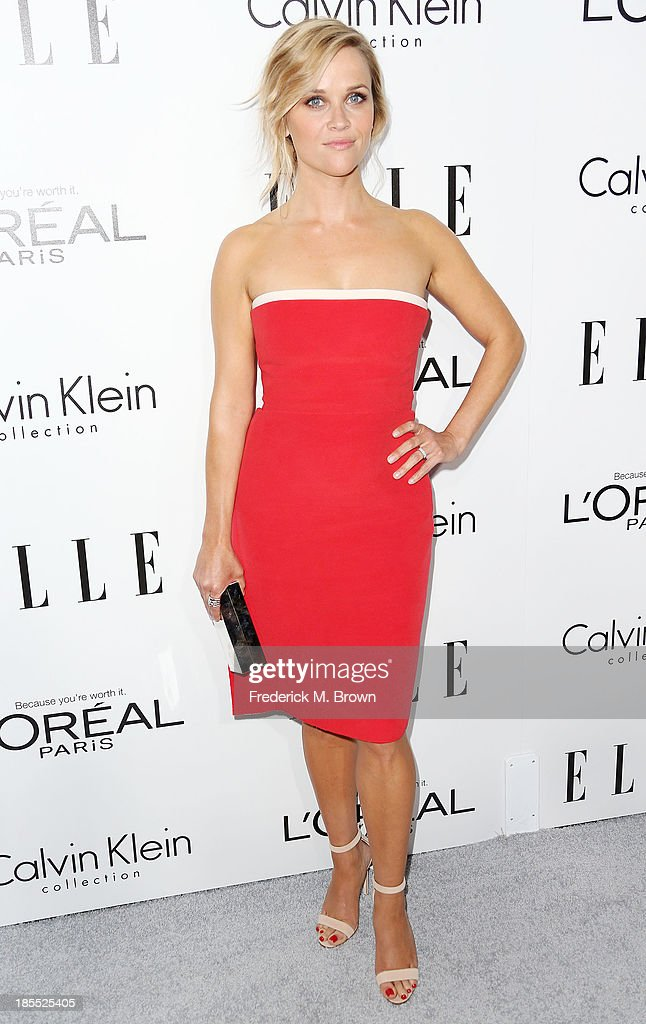Actress <a gi-track='captionPersonalityLinkClicked' href=/galleries/search?phrase=Reese+Witherspoon&family=editorial&specificpeople=201577 ng-click='$event.stopPropagation()'>Reese Witherspoon</a> attends ELLE's 20th Annual Women in Hollywood Celebration at the Four Seasons Hotel Los Angeles at Beverly Hills on October 21, 2013 in Beverly Hills, California.