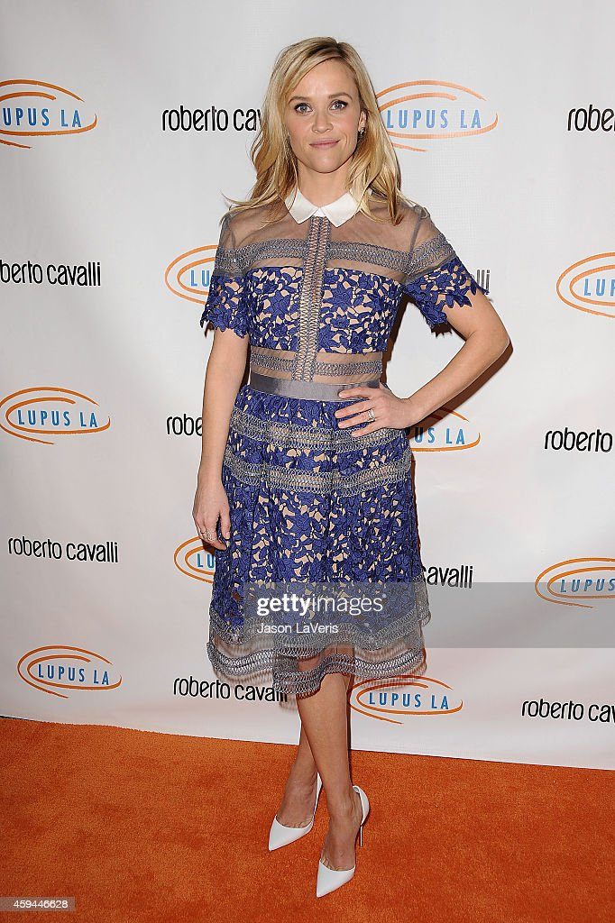 Actress Reese Witherspoon attends the 12th annual Lupus LA Hollywood Bag Ladies luncheon at The Beverly Hilton Hotel on November 21 2014 in Beverly...