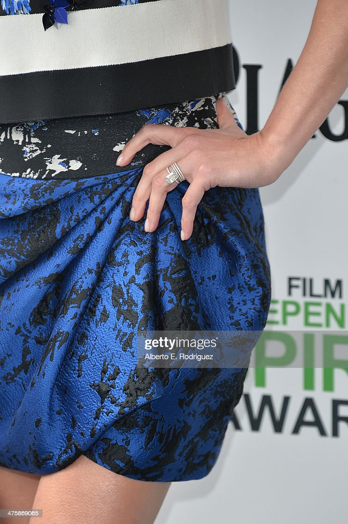 Actress Reese Witherspoon (ring detail) attends the 2014 Film Independent Spirit Awards at Santa Monica Beach on March 1, 2014 in Santa Monica, California.