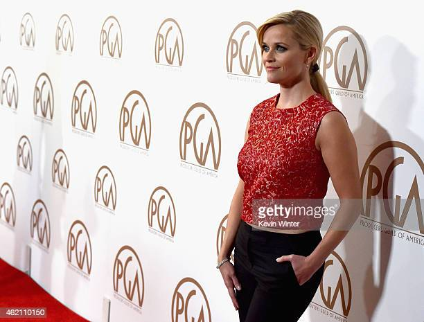 Actress Reese Witherspoon attends the 26th Annual Producers Guild Of America Awards at the Hyatt Regency Century Plaza on January 24 2015 in Los...