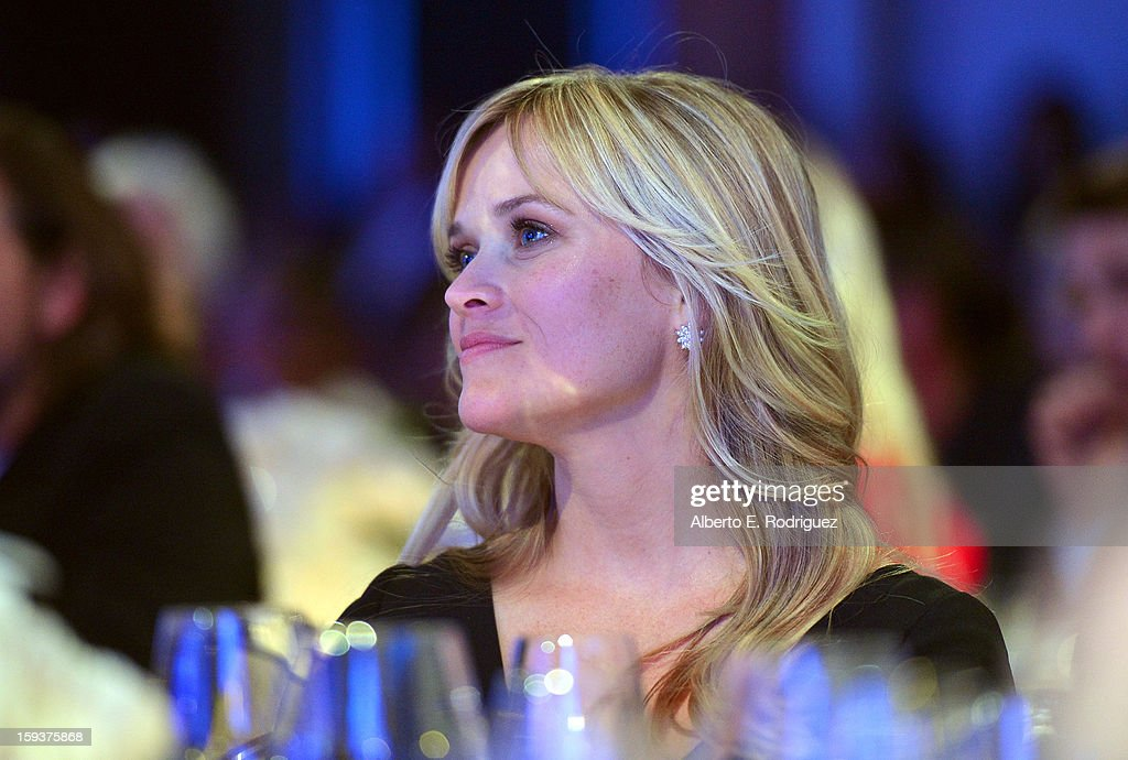 Actress Reese Witherspoon attends the 2nd Annual Sean Penn and Friends Help Haiti Home Gala benefiting J/P HRO presented by Giorgio Armani at Montage Hotel on January 12, 2013 in Los Angeles, California.