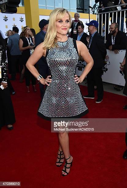 Actress Reese Witherspoon attends the 50th Academy Of Country Music Awards at ATT Stadium on April 19 2015 in Arlington Texas