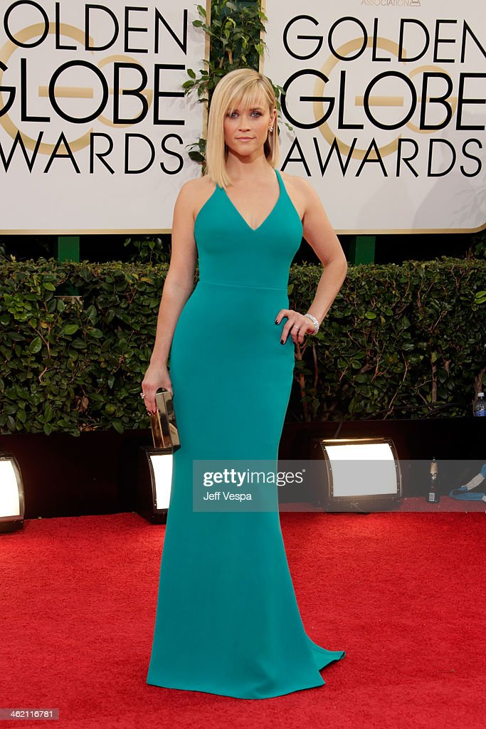 Actress Reese Witherspoon attends the 71st Annual Golden Globe Awards held at The Beverly Hilton Hotel on January 12 2014 in Beverly Hills California