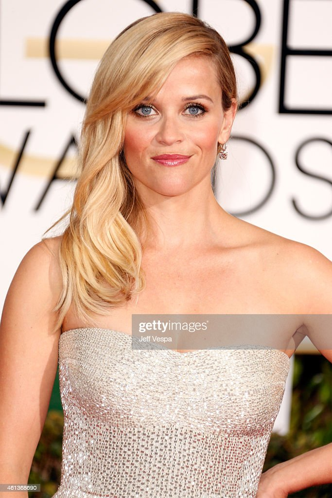 Actress <a gi-track='captionPersonalityLinkClicked' href=/galleries/search?phrase=Reese+Witherspoon&family=editorial&specificpeople=201577 ng-click='$event.stopPropagation()'>Reese Witherspoon</a> attends the 72nd Annual Golden Globe Awards at The Beverly Hilton Hotel on January 11, 2015 in Beverly Hills, California.
