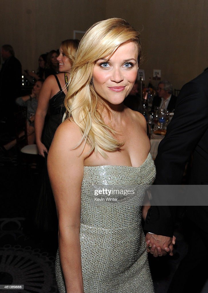 Actress Reese Witherspoon attends the 72nd Annual Golden Globe Awards cocktail party at The Beverly Hilton Hotel on January 11 2015 in Beverly Hills...