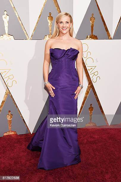 Actress Reese Witherspoon attends the 88th Annual Academy Awards at Hollywood Highland Center on February 28 2016 in Hollywood California