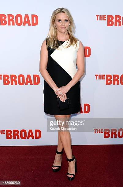 Actress Reese Witherspoon attends The Broad museum's inaugural celebration September 18 in Los Angeles California