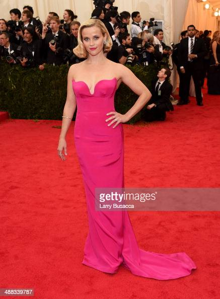 Actress Reese Witherspoon attends the 'Charles James Beyond Fashion' Costume Institute Gala at the Metropolitan Museum of Art on May 5 2014 in New...