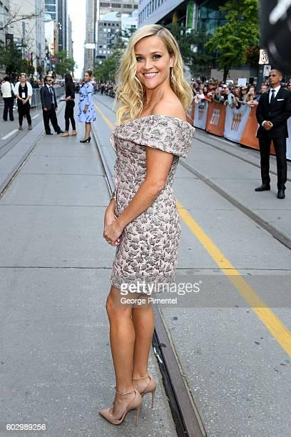 Actress Reese Witherspoon attends the 'Sing' premiere during the 2016 Toronto International Film Festival at Princess of Wales Theatre on September...