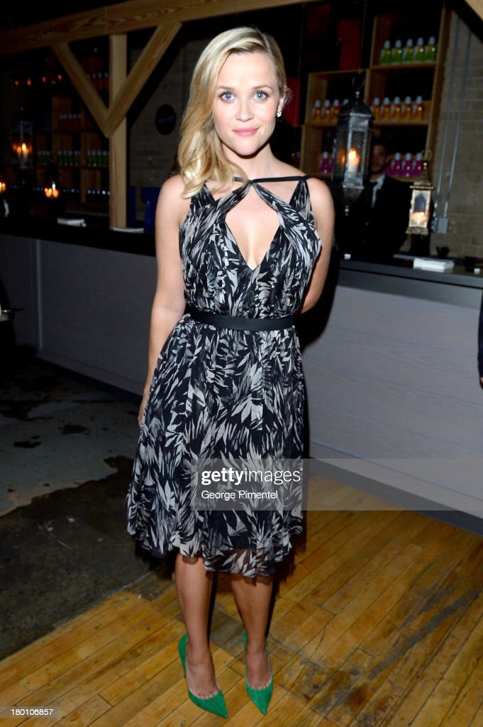 Actress <a gi-track='captionPersonalityLinkClicked' href=/galleries/search?phrase=Reese+Witherspoon&family=editorial&specificpeople=201577 ng-click='$event.stopPropagation()'>Reese Witherspoon</a> attends the SodaStream presents The Worldview Party at Live at the Hive during the 2013 Toronto International Film Festival on September 8, 2013 in Toronto, Canada.
