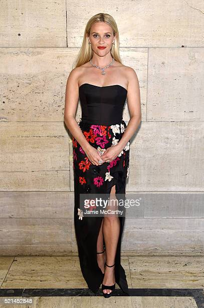 Actress Reese Witherspoon attends the Tiffany Co Blue Book Gala at The Cunard Building on April 15 2016 in New York City