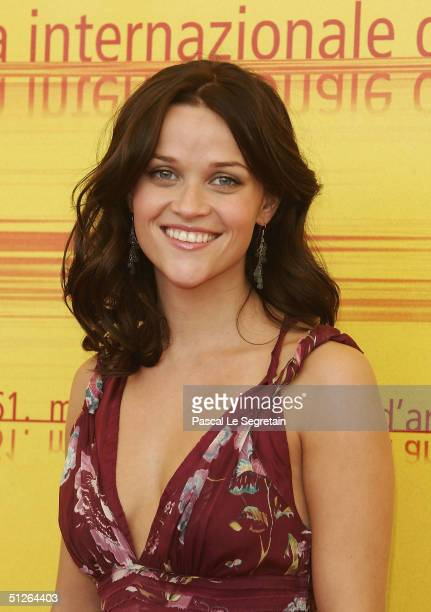 Actress Reese Witherspoon attends the 'Vanity Fair' Photocall at the 61st Venice Film Festival on September 5 2004 in Venice Italy