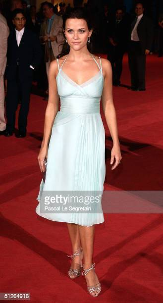 Actress Reese Witherspoon attends the 'Vanity Fair' Premiere at the 61st Venice Film Festival on September 5 2004 in Venice Italy