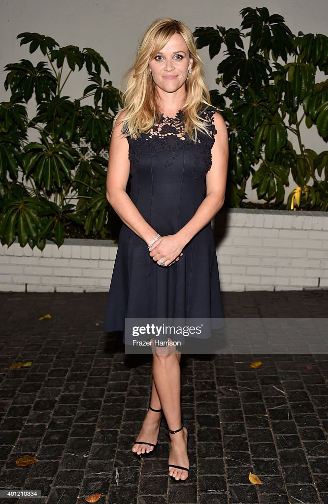 Actress Reese Witherspoon attends the W Magazine celebration of the 'Best Performances' Portfolio and The Golden Globes with Cadillac and Dom Perignon at Chateau Marmont on January 8, 2015 in Los Angeles, California.
