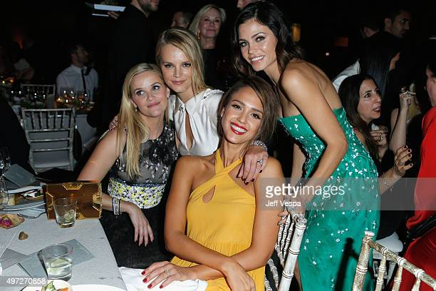 Actress Reese Witherspoon copresident of Baby2Baby Kelly Sawyer Patricof gala chair member Jessica Alba and actress Jenna Dewan Tatum attend the 2015...