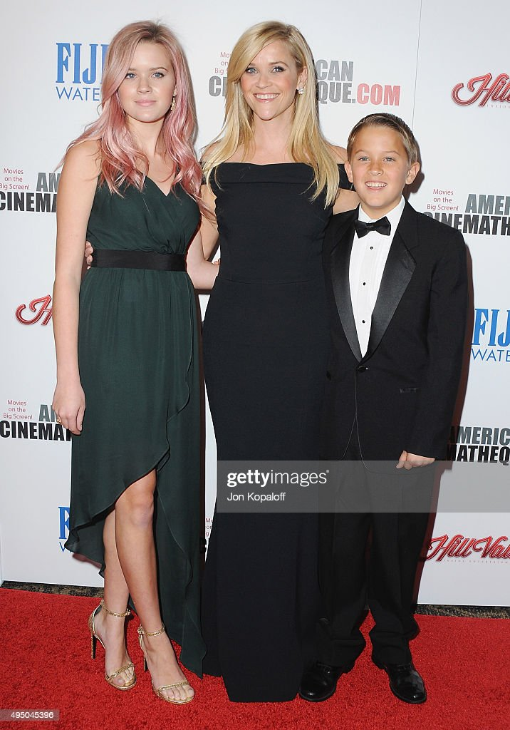 Actress Reese Witherspoon daughter Ava Phillippe and son Deacon Phillippe arrive at the 29th American Cinematheque Award Honoring Reese Witherspoon...