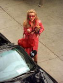 Actress Reese Witherspoon films a scene on the set of 'Legally Blonde' October 21 2000 in Los Angeles CA