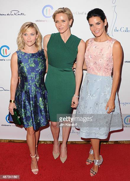 Actress Reese Witherspoon her serene highness Princess Charlene of Monaco and actress Angie Harmon attend The Colleagues' 26th Annual Spring Luncheon...