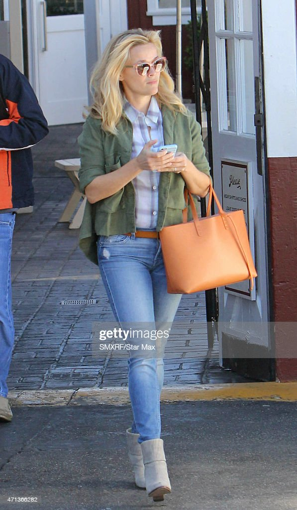 Actress Reese Witherspoon is seen on April 27 2015 in Los Angeles California