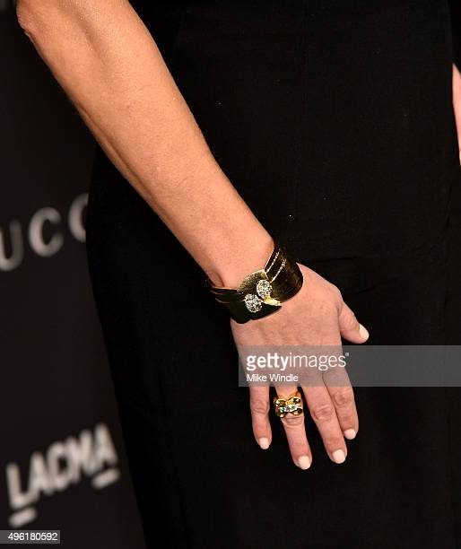 Actress Reese Witherspoon jewelry detail attends LACMA 2015 ArtFilm Gala Honoring James Turrell and Alejandro G Iñárritu Presented by Gucci at LACMA...