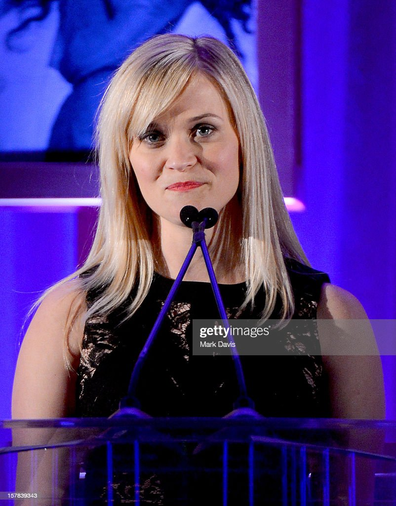 Actress <a gi-track='captionPersonalityLinkClicked' href=/galleries/search?phrase=Reese+Witherspoon&family=editorial&specificpeople=201577 ng-click='$event.stopPropagation()'>Reese Witherspoon</a> onstage the Children's Defense Fund of California 22nd Annual Beat The Odds Awards at Beverly Hills Hotel on December 6, 2012 in Beverly Hills, California.
