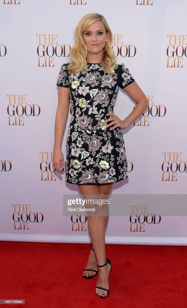Actress Reese Witherspoon walks 'The Good Lie' Red Carpet at The Belcourt Theatre on September 19 2014 in Nashville Tennessee