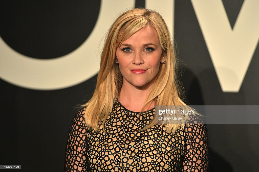 Actress <a gi-track='captionPersonalityLinkClicked' href=/galleries/search?phrase=Reese+Witherspoon&family=editorial&specificpeople=201577 ng-click='$event.stopPropagation()'>Reese Witherspoon</a>, wearing TOM FORD, attends the TOM FORD Autumn/Winter 2015 Womenswear Collection Presentation at Milk Studios in Los Angeles on February 20, 2015.