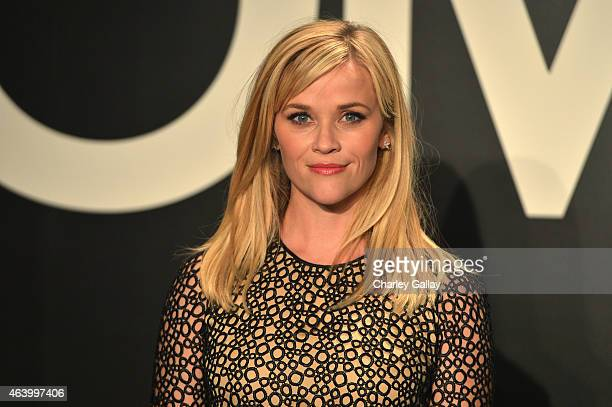 Actress Reese Witherspoon wearing TOM FORD attends the TOM FORD Autumn/Winter 2015 Womenswear Collection Presentation at Milk Studios in Los Angeles...