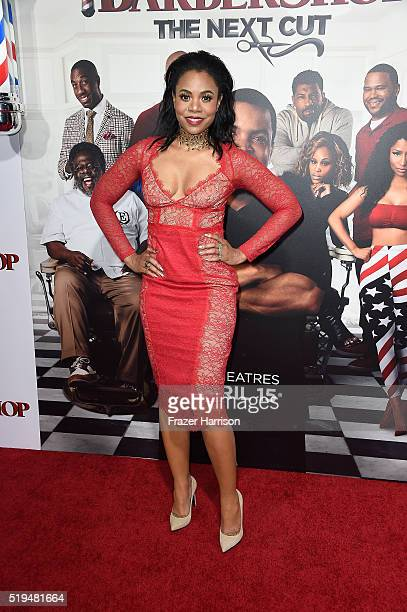 Actress Regina Hall attends the premiere of New Line Cinema's 'Barbershop The Next Cut' at TCL Chinese Theatre on April 6 2016 in Hollywood California