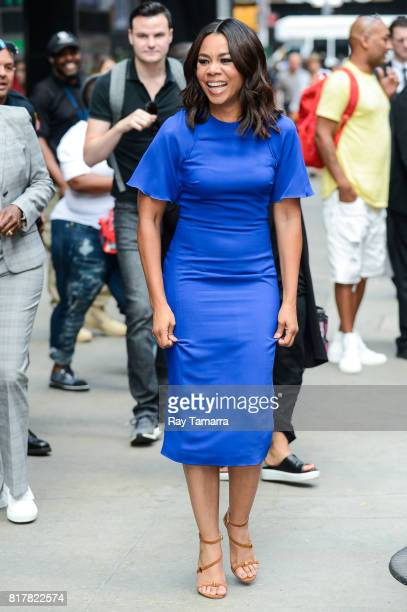Actress Regina Hall leaves the 'Good Morning America' taping at the ABC Times Square Studios on July 18 2017 in New York City