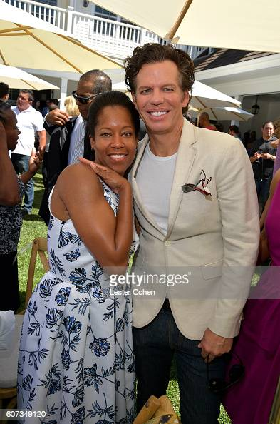 Actress Regina King and ICM Partners' Chuck James at the ICM Partners PreEmmy Brunch on September 17 2016 in Santa Monica California