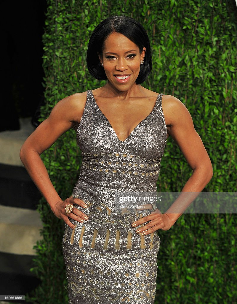Actress Regina King arrives at the 2013 Vanity Fair Oscar Party at Sunset Tower on February 24, 2013 in West Hollywood, California.