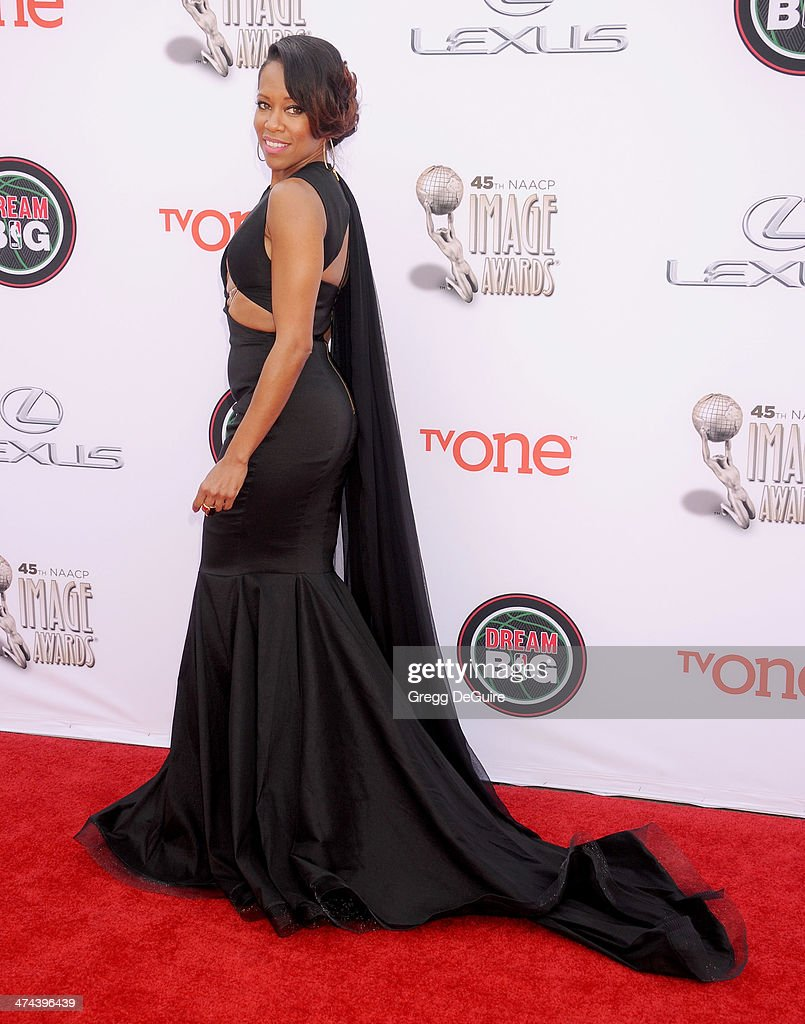 Actress <a gi-track='captionPersonalityLinkClicked' href=/galleries/search?phrase=Regina+King&family=editorial&specificpeople=202510 ng-click='$event.stopPropagation()'>Regina King</a> arrives at the 45th NAACP Image Awards at Pasadena Civic Auditorium on February 22, 2014 in Pasadena, California.