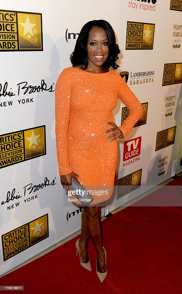 Actress <a gi-track='captionPersonalityLinkClicked' href=/galleries/search?phrase=Regina+King&family=editorial&specificpeople=202510 ng-click='$event.stopPropagation()'>Regina King</a> arrives at the Broadcast Television Journalists Association's 3rd Annual Critic's Choice Television Awards at The Beverly Hilton Hotel on June 10, 2013 in Beverly Hills, California.