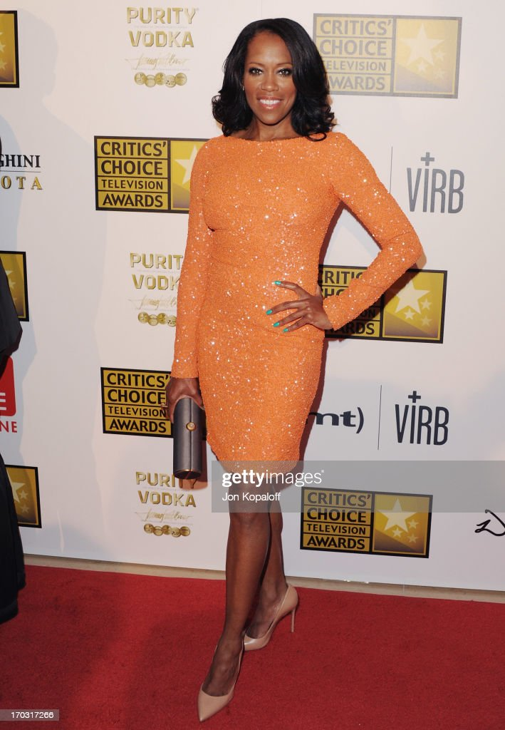 Actress <a gi-track='captionPersonalityLinkClicked' href=/galleries/search?phrase=Regina+King&family=editorial&specificpeople=202510 ng-click='$event.stopPropagation()'>Regina King</a> arrives at the BTJA Critics' Choice Television Award at The Beverly Hilton Hotel on June 10, 2013 in Beverly Hills, California.