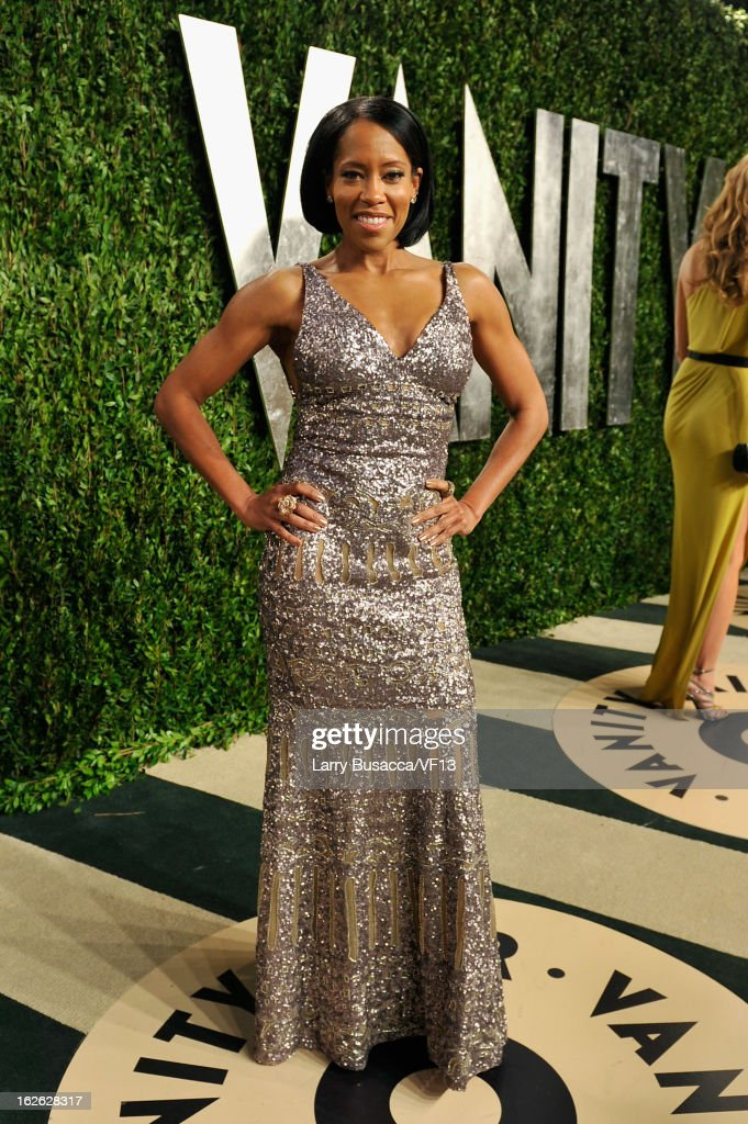Actress Regina King arrives for the 2013 Vanity Fair Oscar Party hosted by Graydon Carter at Sunset Tower on February 24, 2013 in West Hollywood, California.