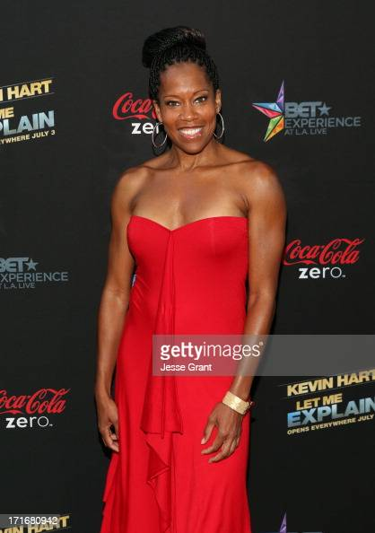 Actress Regina King attends Movie Premiere 'Let Me Explain' with Kevin Hart during the 2013 BET Experience at Regal Cinemas LA Live on June 27 2013...
