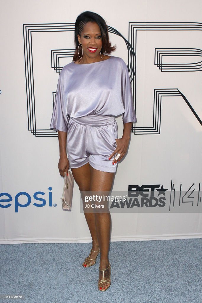 Actress <a gi-track='captionPersonalityLinkClicked' href=/galleries/search?phrase=Regina+King&family=editorial&specificpeople=202510 ng-click='$event.stopPropagation()'>Regina King</a> attends 'PRE' BET Awards Dinner at Milk Studios on June 28, 2014 in Hollywood, California.