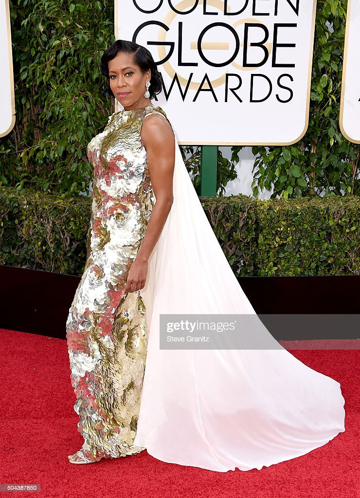 Actress <a gi-track='captionPersonalityLinkClicked' href=/galleries/search?phrase=Regina+King&family=editorial&specificpeople=202510 ng-click='$event.stopPropagation()'>Regina King</a> attends the 73rd Annual Golden Globe Awards held at the Beverly Hilton Hotel on January 10, 2016 in Beverly Hills, California.