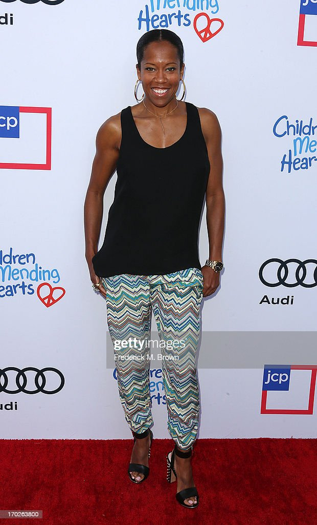 Actress <a gi-track='captionPersonalityLinkClicked' href=/galleries/search?phrase=Regina+King&family=editorial&specificpeople=202510 ng-click='$event.stopPropagation()'>Regina King</a> attends the First Annual Children Mending Hearts Style Sunday on June 9, 2013 in Beverly Hills, California.