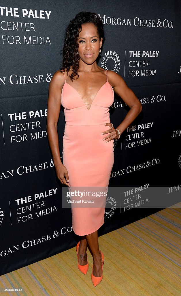 Actress <a gi-track='captionPersonalityLinkClicked' href=/galleries/search?phrase=Regina+King&family=editorial&specificpeople=202510 ng-click='$event.stopPropagation()'>Regina King</a> attends the Paley Center For Media's Hollywood Tribute To African-American Achievements in Television, Presented by JPMorgan & Co. on October 26, 2015 in Los Angeles, California.