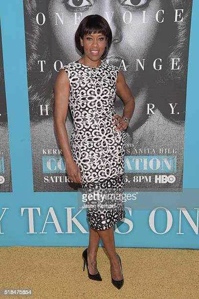 Actress Regina King attends the premiere of HBO Films' 'Confirmation' at Paramount Theater on the Paramount Studios lot on March 31 2016 in Hollywood...