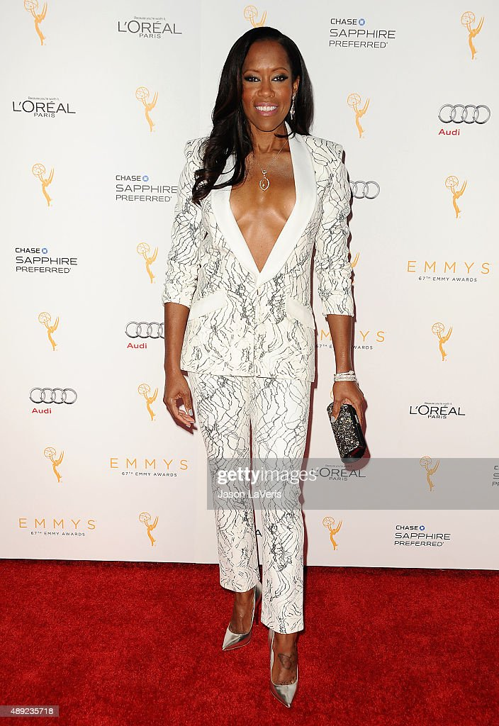 Actress <a gi-track='captionPersonalityLinkClicked' href=/galleries/search?phrase=Regina+King&family=editorial&specificpeople=202510 ng-click='$event.stopPropagation()'>Regina King</a> attends the Television Academy's celebration for the 67th Emmy Award nominees for outstanding performances at Pacific Design Center on September 19, 2015 in West Hollywood, California.
