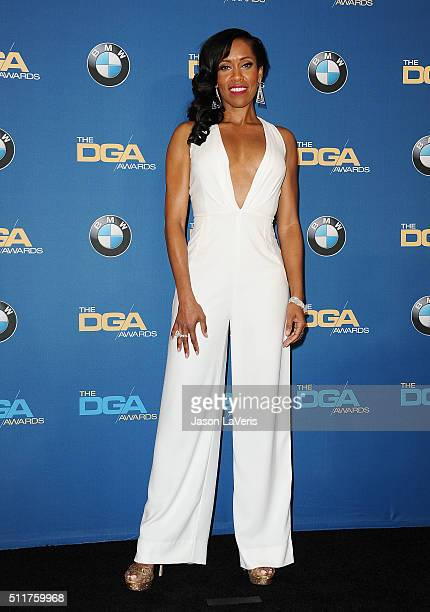 Actress Regina King poses in the press room at the 68th annual Directors Guild of America Awards at the Hyatt Regency Century Plaza on February 6...