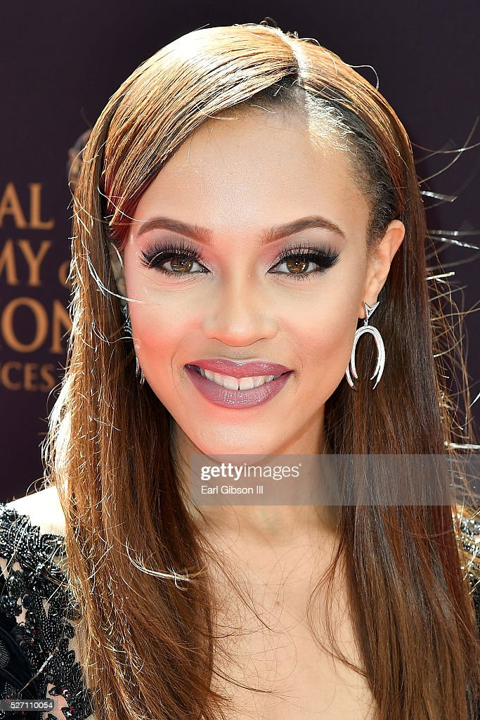Actress Reign A'Rei Edwards arrives at the 43rd Annual Daytime Emmy Awards at the Westin Bonaventure Hotel on May 1, 2016 in Los Angeles, California.
