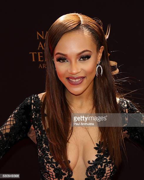 Actress Reign Edwards attends the 2016 Daytime Emmy Awards at The Westin Bonaventure Hotel on May 1 2016 in Los Angeles California