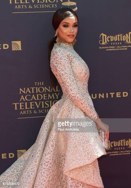 Actress Reign Edwards attends the 44th annual Daytime Emmy Awards at Pasadena Civic Auditorium on April 30 2017 in Pasadena California