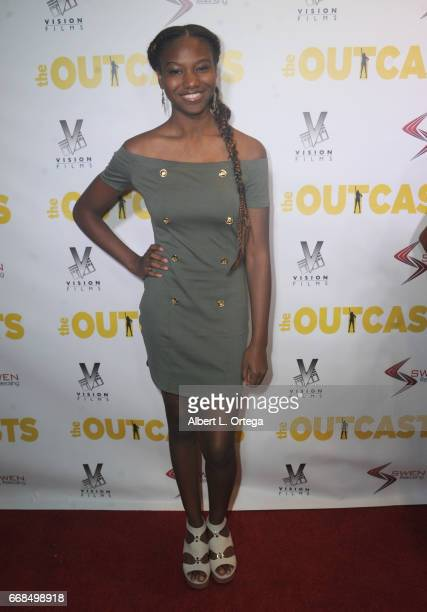 Actress Reiya Downs arrives for the Premiere Of Swen Group's 'The Outcasts' held at Landmark Regent on April 13 2017 in Los Angeles California