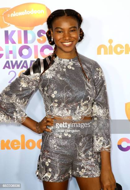 Actress Reiya Downs attends Nickelodeon's 2017 Kids' Choice Awards at USC Galen Center on March 11 2017 in Los Angeles California
